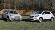Essai Opel Mokka X vs Fiat 500X : au coude à coude