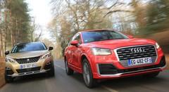 Essai Audi Q2 vs Peugeot 3008