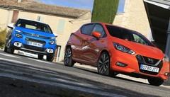Essai Nissan Micra contre Citroën C3