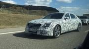 Mercedes Classe S restylée en route camouflée