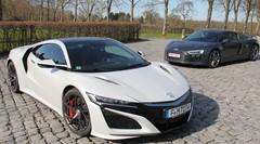 Essai Audi R8 V10 Plus vs Honda NSX : Conflit de génération