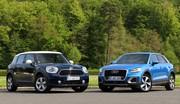 Essai Audi Q2 vs Mini Countryman : élite populaire