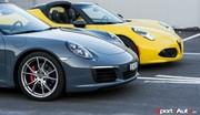 Essai duel Porsche 911 Targa 4S vs Alfa Romeo 4C Spider : Cheveux au vent, oui mais comment  ?