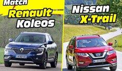 Premier comparatif : le Nissan X-Trail défie le Renault Koleos