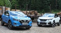 Essai Nissan Qashqai vs Peugeot 3008 : lutte pour un continent