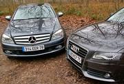 Essai Audi A4 3.2 Quattro et Mercedes Classe C 280 4Matic : Plaisir intégral