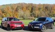 Essai Alfa Romeo Stelvio vs Land Rover Velar : le feu et la glace