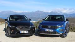 Essai Mazda CX-3 vs Volkswagen T-Roc : outsider contre blockbuster