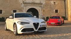 Essai Alfa Romeo Giulia Quadrifoglio Verde vs. Porsche 911 GT3 : Essences sportives !
