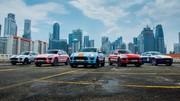 Des Macan aux couleurs des voitures de compétition historiques de Porsche