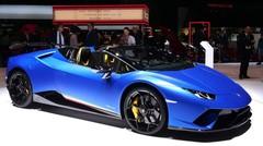 Lamborghini Huracan Performante Spyder depuis le salon de Genève
