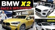 Le BMW X2 face aux Jaguar E-Pace et Mercedes GLA