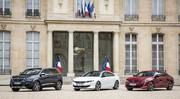 La nouvelle Peugeot 508 de passage à l'Élysée