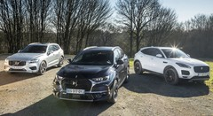 Essai DS 7 Crossback vs Jaguar E-Pace vs Volvo XC60 (2018)