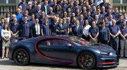 Bugatti Chiron : le centième exemplaire vient d'être livré