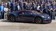 La 100e Bugatti Chiron aux couleurs du PSG