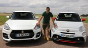 Essai Abarth 595 vs Suzuki Swift Sport par Soheil Ayari