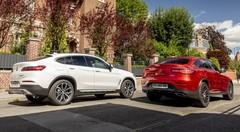 Le BMW X4 20d (2018) défie le Mercedes GLC Coupé 220d