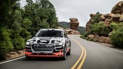 À bord de l'Audi e-Tron sur les pentes de Pikes Peak
