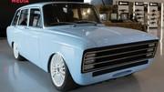 Style rétro pour la première voiture électrique signée Kalachnikov