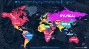 Le top mondial des recherches auto Google par Pays : Renault en tête en France