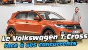 Le Volkswagen T-Cross face à ses cinq concurrents