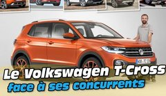 Le Volkswagen T-Cross face à ses cinq concurrents