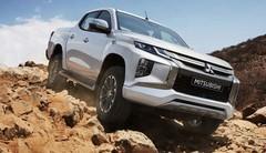 Restylage bien visible en 2019 pour le pick-up Mitsubishi L200