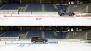 Cette vidéo nous rappelle qu'un 4x4 sans pneus hiver est en difficulté sur terrain glissant