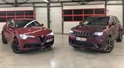 Essai Alfa Romeo Stelvio Quadrifoglio VS Jeep Grand Cherokee Trackhawk : les SUV se rebiffent !