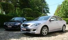 Essai Mazda 6 CDVi vs Subaru Legacy 2.0 TD : l'offensive du soleil levant !