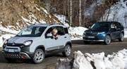 Essai Fiat Panda Cross 4x4 vs Skoda Kodiaq Scout
