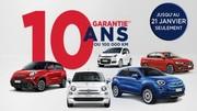Fiat offre 10 ans de garantie sur sa gamme