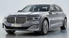 BMW Série 7 : une calandre de voiture de luxe