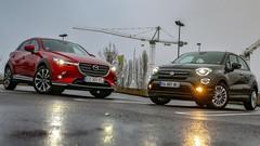 Essai Fiat 500X vs Mazda CX-3: la conquête des challengers
