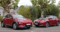 Essai Hyundai Kona EV vs Nissan Leaf : la guerre des watts !