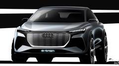 Audi dévoile des croquis de son concept Q4 e-tron pour Genève