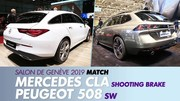 Mercedes CLA Shooting Brake vs Peugeot 508 SW : les breaks racés