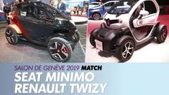 La Seat Minimo face à la Renault Twizy à Genève 2019