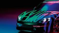 """Premières photos """"teasing"""" pour la future Porsche Taycan"""