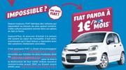 FIAT vend sa Panda pour 1 € par mois en LOA !