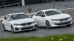 Essai comparatif : la BMW Série 3 (2019) défie la Peugeot 508
