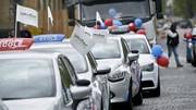 Manifestation des auto-écoles à Paris contre la réforme du permis