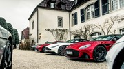 Au volant des coupés Aston Martin