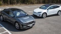 Essai Jaguar i-Pace & Tesla Model X 100D