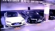 Une Tesla Model S prend feu dans un parking souterrain en Chine