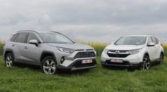 Essai Honda CR-V vs Toyota RAV4 : un SUV hybride d'accord, mais lequel ?