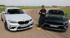 Essai BMW M2 Compétition vs Ford Mustang Bullitt par Soheil Ayari : la faucille contre le marteau