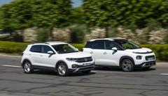 Essai comparatif : le Volkswagen T-Cross défie le Citroën C3 Aircross
