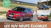 Prime à la conversion : Les SUV éligibles